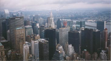 View of chrysler building from empire state